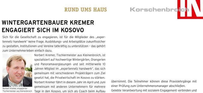 Presseartikel Aus Der In Korschenbroich Wintergartenbauer Kremer
